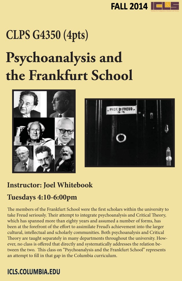 Fall 14 Psychoanalysis Frankfurt School poster.jpg